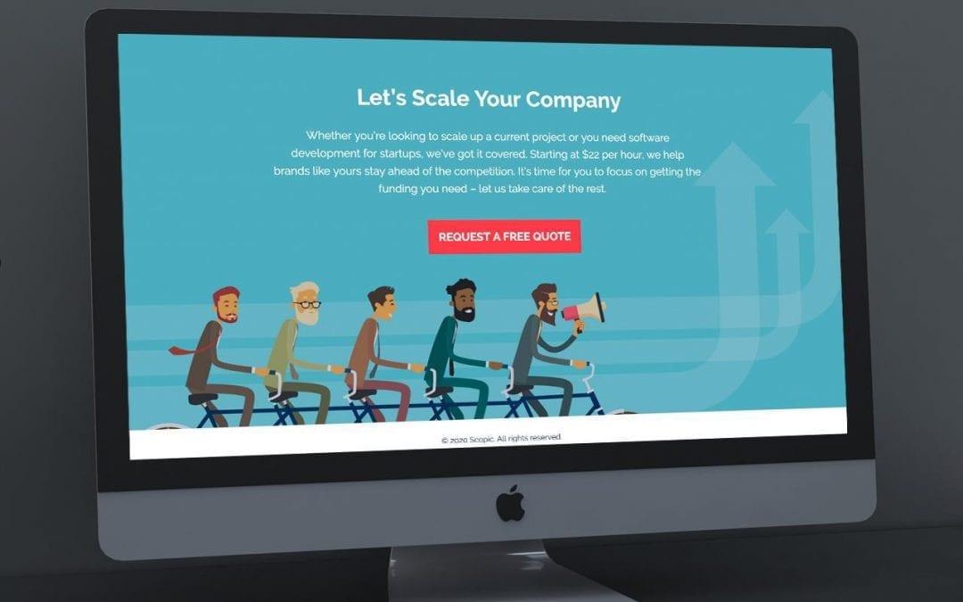 Startups Landing Page