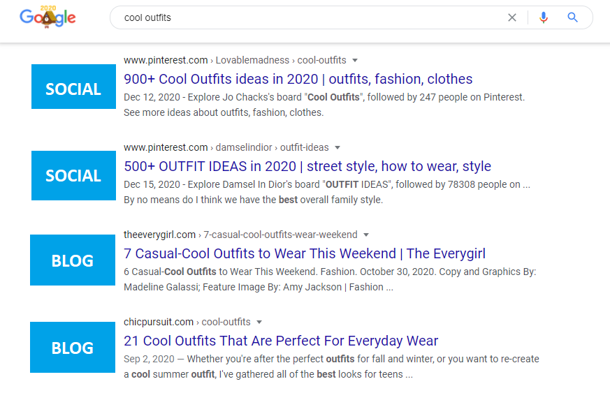 cool outfits serps