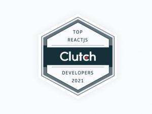 top react js clutch developers badge