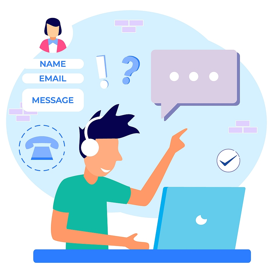 Benefits of having a contact form on website - illustration